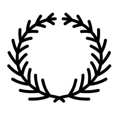 An icon of a laurel wreath